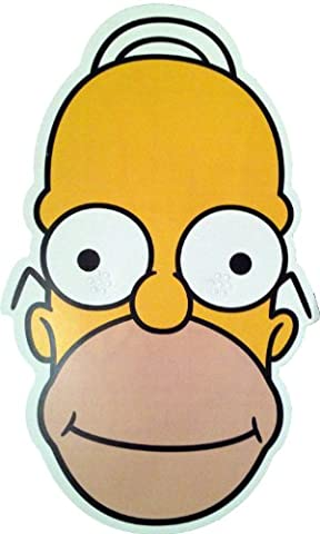 The Simpsons - Homer - Card Face Mask - Licensed Product