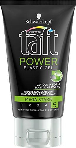 Schwarzkopf 3 Wetter Taft Elastic Power Gel, mega starker Halt, 5er Pack (5 x 150 ml)