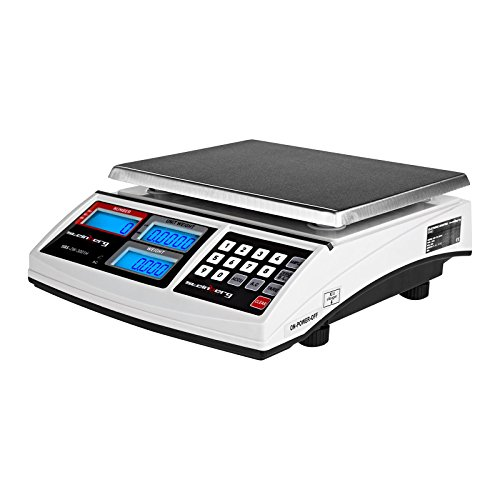 Balanza cuenta piezas 30 kg y precisión de 1 g económica  La Balanza comercial Steinberg Systems SBS-ZW-3001H tiene un rango de medida de 10 g a 30 kg con una precisión de 1 g. Proviene de la combinación de módulos técnicos controlados y precisos. Di...