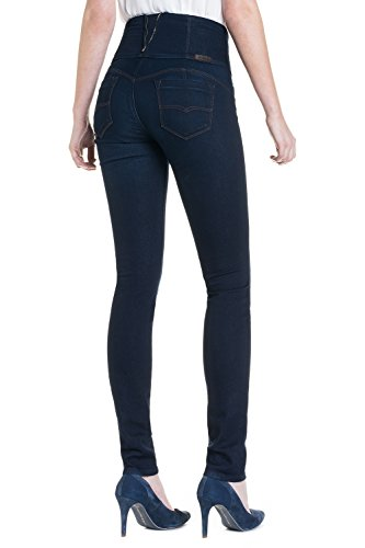 """Salsa - Diva """"Schlankheitsjeans"""" Jeans in dunkler Waschung und schmales Bein - Soft Touch - Damen Blau"""