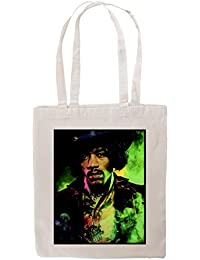 Tshirtmadness Jimi Hendrix Rock Music Guitar Hipster Indie Swag T-shirt Tote Bag