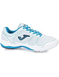 Joma Mujer Fitness Zapatos/Zapatillas de Deporte/Aerobic/Turnschuh Jian, Talla 37 (UK 4/US 5), Blanco/Azul, Dinero...