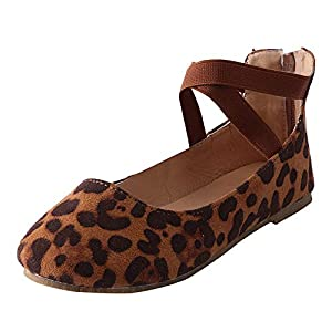 Damen Schuhe,TWBB Pailletten Flacher Mund Flache Schuhe Arbeiten Asakuchi Runder Zeh Schuhe