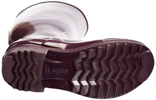 Aigle Brillantine Damen Langschaft Gummistiefel Violett (aubergine 6)