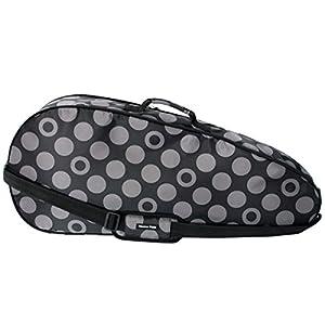 Halkarins Co,Ltd. Tennisschläger-Abdeckung, wasserdicht, für 2-3 Schläger, Größe B 76,2 x H 33,8 cm, Anthrazit