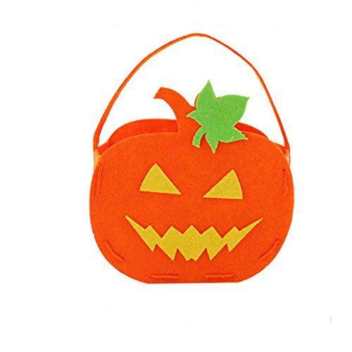 e Halloween-nichtgewebter Kürbis-Beutel/DIY Kinder Süßigkeit-Beutel-Kinder/Einzigartige Bequemlichkeit (D) (Top 10 Halloween-film-zeichen)