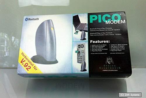 PICO Bluetooth 56K Fax-Modem, V90, analog, ohne Kabelsalat ins Web, bis 100m NEU 56k, Bluetooth