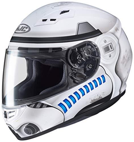 Kostüm Blau Stormtrooper - Motorradhelm HJC CS 15 STORMTROOPER STAR WARS MC10SF, Weiss/Blau, S