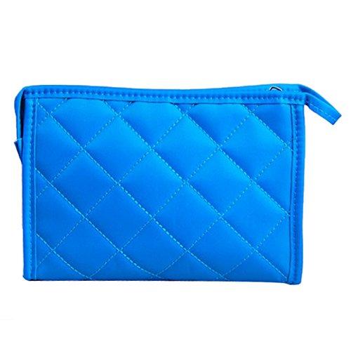Tangda Handytasche Notizbuchtasche Aufbewahrungstasche Kosmetik Tasche Beutel Tote Bag Tragetasche Kleine Größe - Blau