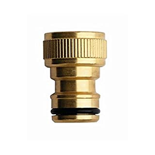 Aquajet 612 B Maxipass Threaded Tap Connector in Blister, Gold, 1-Inch