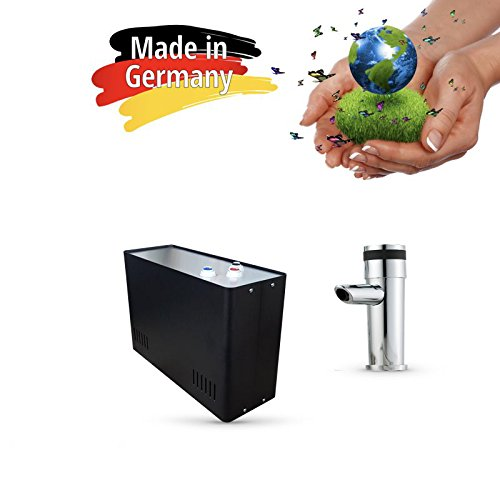 Sprudel aus dem Wasserhahn! Untertisch-Trinkwassersystem - Trinkwassersprudler Sprudel-Lok - NEUHEIT! inkl. 1-Weg-Zusatzarmatur MORA und Anschluss-Set. Made in Germany