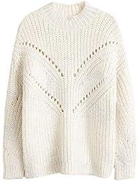 71954f1400 MANGO Women s Metallic Finish Sweater 43010770 White