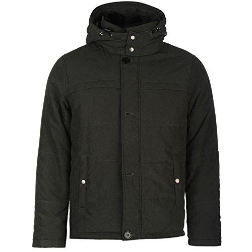 Lee Cooper Stripe giacca imbottita da uomo verde giacche Coats Outerwear, Green, M