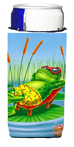 frog-chilaxin-on-the-lilly-pad-michelob-ultra-koozies-for-slim-cans-aph0521muk