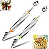 Drasawee acero inoxidable sandía frutas cuchillo de trinchar cortador corer herramienta doble propósito cocina herramienta