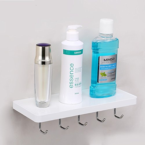 Branco Homegear HGI-016 Italia Plastic Wall Shelf (White)