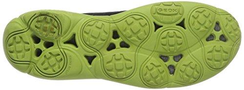 Geox U Nebula B, Sneakers Basses Homme Bleu (Navy/Lime Greencf43S)