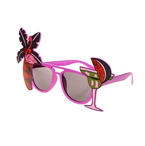 Westeng 2 Stück Spaß Partybrille Hawaii Strandparty Zitrone Kokosnussbaum Flamingos Sonnenbrillen für Hochzeit Geburtstagspartys Kostümparty