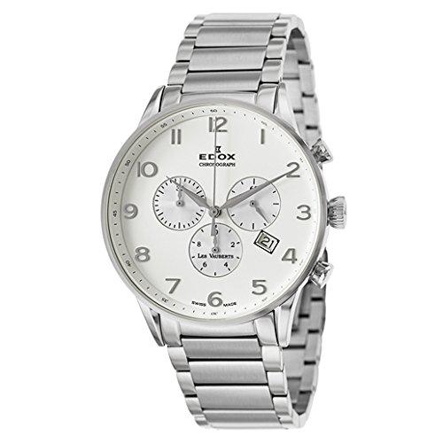 Edox Les Vauberts reloj hombre cronógrafo 10409 3A ABN