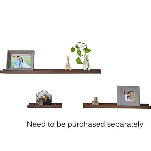 QAL Schwimmende Regale, Hängerahmen Wandmontage mit Massivholzplatte, für Topfpflanzen, Spielzeug-Display, kann zu Hause und im Büro verwendet Werden (Walnuss Farbe) Walnut color-30 * 10 * 4 - Fantasy Walnuss
