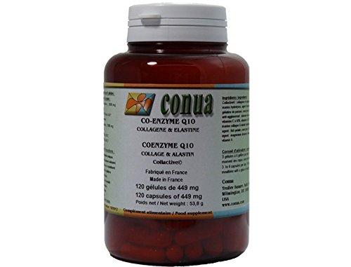 CoQ10 * Coenzyme Q10 Collagène * 120 gélules marine * Collagène * Puissant antioxydant pour retarder les effets de l'âge * élastine marins hydrolysés vitamine A Vitamine E Collactive: gélatine de poisson