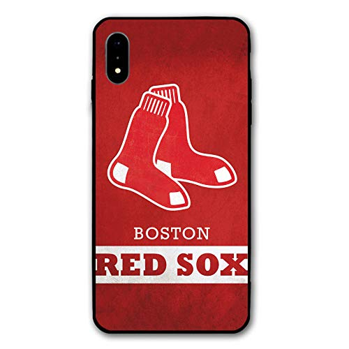 HiFee Schutzhülle für iPhone XR, Baseball-Design, schlankes und leichtes Design, Red-Sox-BSN, iPhone xr Sox Im Team Design