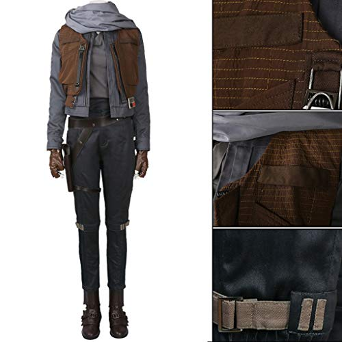 nihiug Star Wars Gerüchte über Grand Theft Auto 1 Cosplay Damenmodelle Anpassbare COS-Kleidung Komplettset Halloween-Kostüme,Grey-L(168to172) (Gerüchte Spielen Kostüm)