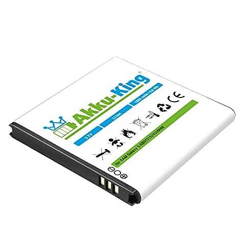 Akku-King Akku für Samsung Galaxy S i9000, i9001, i9003, i9010, B7350 - ersetzt EB575152VU, EB625152VU - Li-Ion 1800 mAh