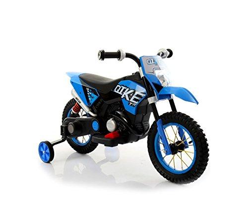 LT876 Motocicleta eléctrica infantil MOTO CROSS BABY ruedas inflables - Azul