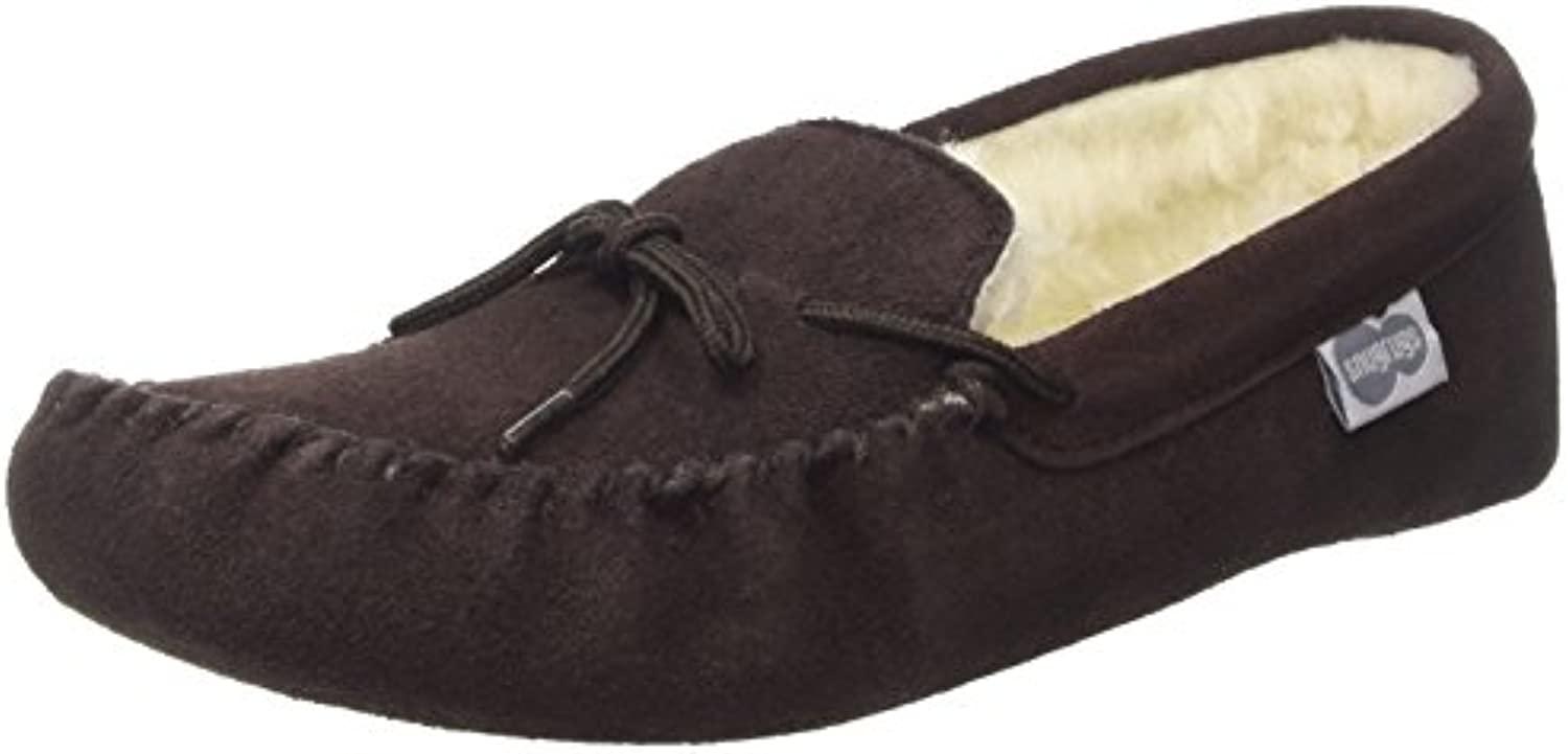 SNUGRUGS Alfie, Wool Lined Moccasin Slippers, Mocasines para Hombre