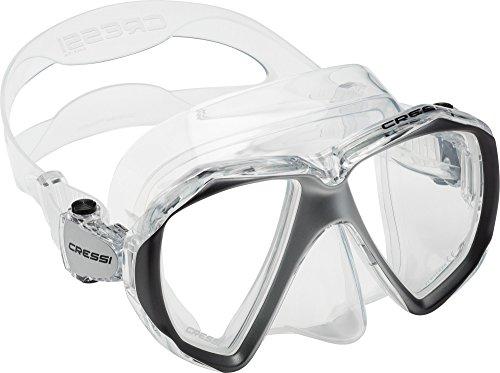 Cressi Unisex- Erwachsene Liberty Duo Tauchmasken, Transparent/Silber, Uni