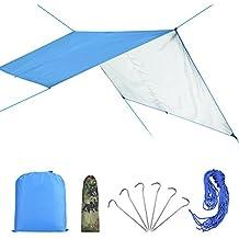 VGEBY Toldo de Refugio Impermeable, Toldo de Lona Resistente al Agua y Rayos UV Portable