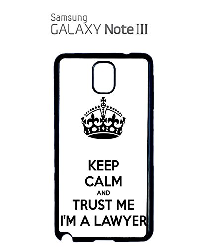 Keep Calm And Trust Me I'm A Lawyer Mobile Phone Case Samsung Galaxy S3 White Blanc