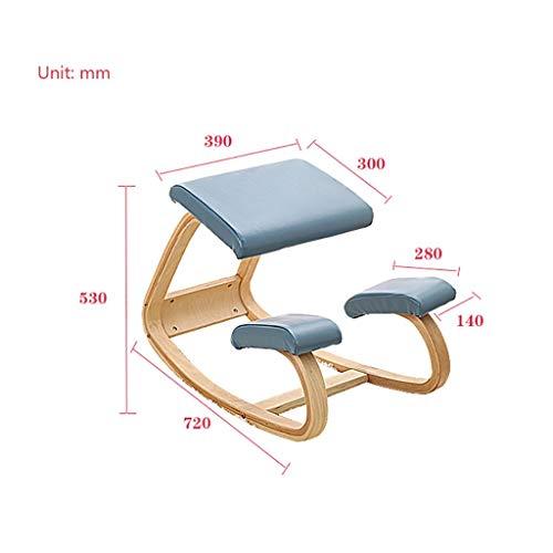 MJY Haushaltsprodukte Hocker Computerstühle, Massivholz Rektifikationsstühle Sessel Reitstühle Lernstühle Wirbelsäulenstühle Drehstühle Yogastühle,D, - Master Corrector