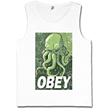 CTHULHU OBEY CAMISETA SIN MANGAS – Arkham Miskatonic HP Dunwich University Lovecraft Wars Horror Tamaños S – 5XL