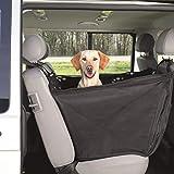 Ducomi DogDeal - Seggiolino Auto per Cane, Coprisedile Singolo per Cani di Taglia Media e Grande - Telo Impermeabile per Proteggere Sedili Vettura - Copertura Universale Struttura Stabile (Black)