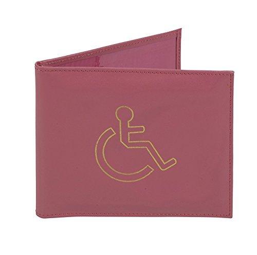 Rosa Leder Disabled Kartenhalter