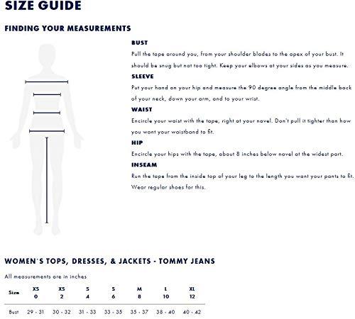 Tommy Jeans Hilfiger Denim Damen Mantel TJW Essential Hooded DOWN Coat, Blau (Black Iris 002), Medium - 6