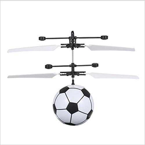 Cuitan RC Fliegender Ball, Fliegendes Spielzeug Flying Ball Drone Infrarot Induktions Hubschrauber mit Eingebaute LED-Licht und Fernbedienung für Kinder Jugendliche Mädchen - Fußball