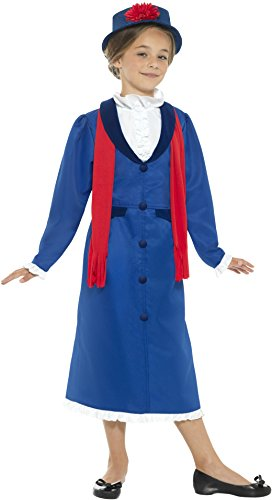 SMIFFYS Victorian Nanny – Childrens Fancy Dress costume – large – 158 cm – Age 10 – 12