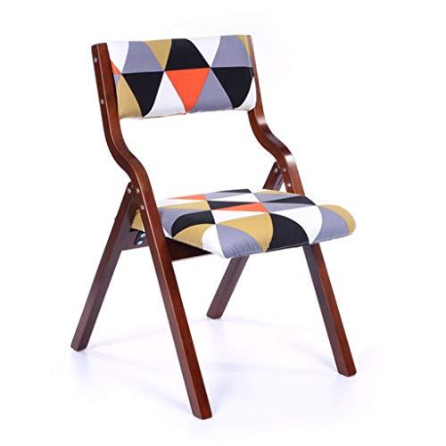 Chaise de loisirs Chaise de salle à manger Chaise de bureau Chaise de dossier Restaurant Créative Chaise pliante en bois Toile de jute (Couleur : A)