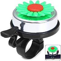Wenquan,Anillo de Campana para Bicicleta Estilo Girasol para Exteriores(Color:Verde)