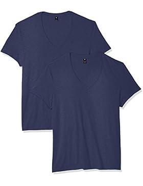 G-STAR RAW Herren T-Shirt Base Htr V T S/S 2-pack
