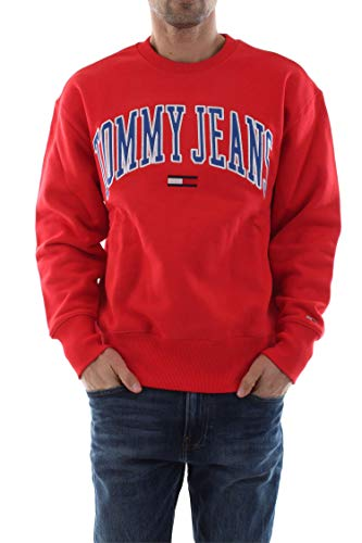 Tommy Jeans Clean Collegiate Sweater Flame Scarlet