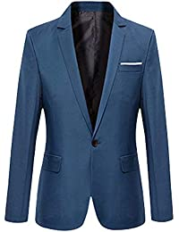 ROBO Giacca da Uomo Elegante a Manica Lunga Blazer Slim Sottile alla Moda  Maschile Cappotto Classico 622b25cc2ec