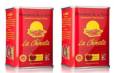 Pimentón de La Vera Ahumado Dulce pack La Chinata 2 latas 160g