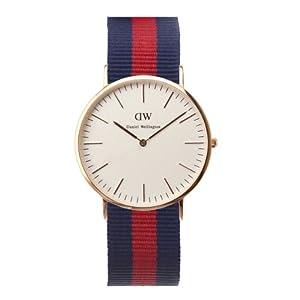 Reloj Daniel Wellington 0101DW de cuarzo para hombre con correa de nylon, color multicolor de Daniel Wellington