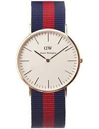 Daniel Wellington Herren-Armbanduhr Analog Quarz Nylon DW00100001,Rosegold