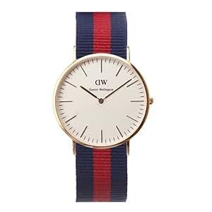 b90fa9afe650 Daniel Wellington Oxford Rose Men s Quartz Watch with White Dial Analogue  Display and Multicolour Nylon Strap