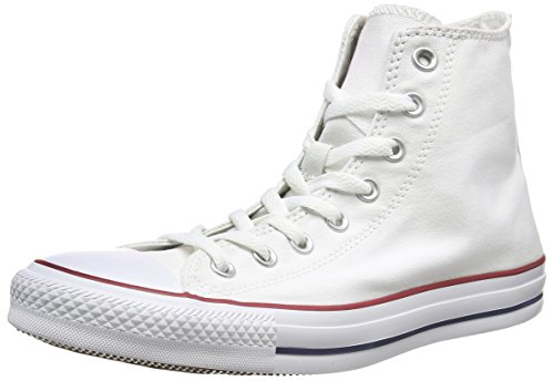 Converse All Star Hi Canvas Sneaker, Unisex Adulto, Bianco (Optical White), 36